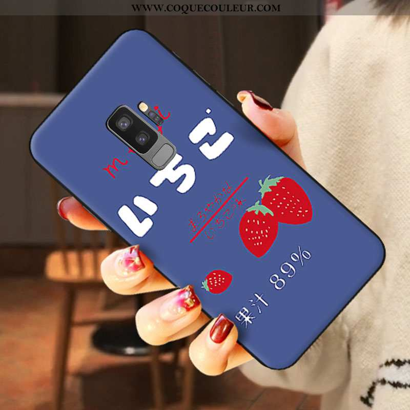 Étui Samsung Galaxy S9+ Silicone Étoile Téléphone Portable, Coque Samsung Galaxy S9+ Délavé En Daim