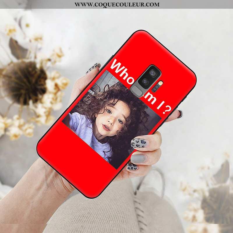 Housse Samsung Galaxy S9+ Fluide Doux Simple Étui, Étui Samsung Galaxy S9+ Silicone Nouveau Rouge