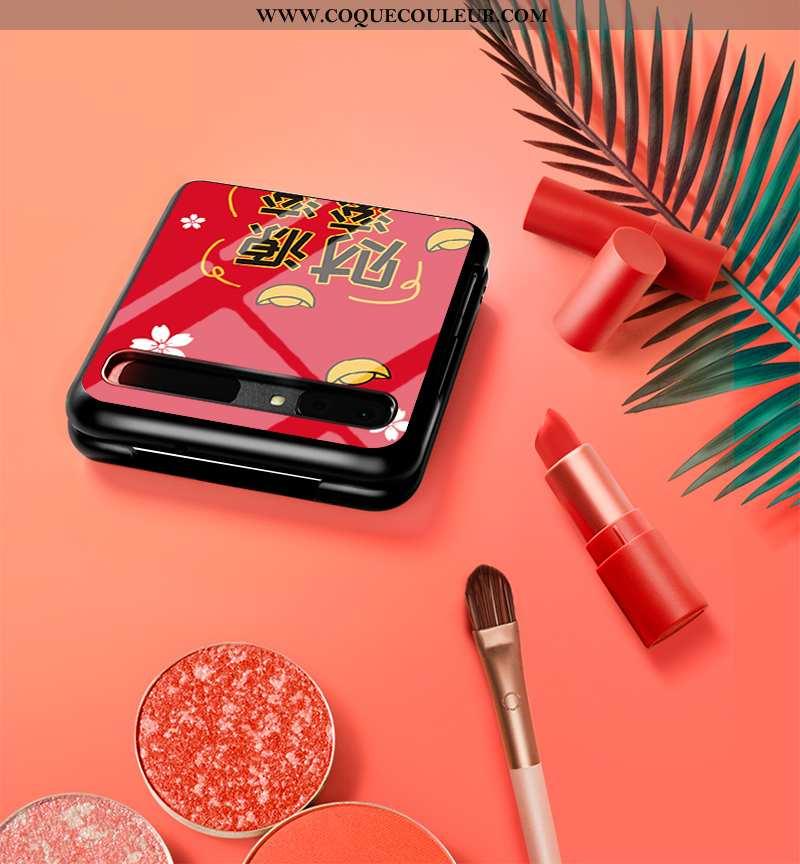 Étui Samsung Z Flip Protection Téléphone Portable Personnalisé, Coque Samsung Z Flip Verre Amoureux