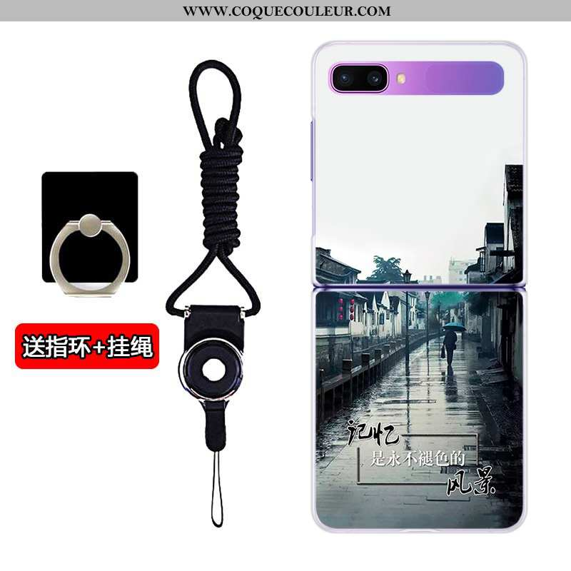 Coque Samsung Z Flip Transparent Blanc Plier, Housse Samsung Z Flip Difficile Téléphone Portable Bla