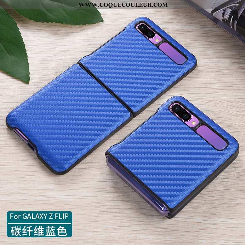 Housse Samsung Z Flip Cuir Véritable Protection Incassable, Étui Samsung Z Flip Ultra Téléphone Port