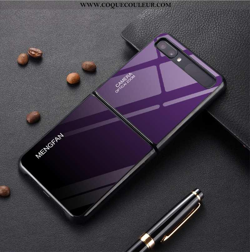 Housse Samsung Z Flip Protection Téléphone Portable Dégradé De Couleur, Étui Samsung Z Flip Verre Pe