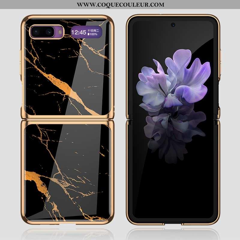 Étui Samsung Z Flip Tendance Étoile Noir, Coque Samsung Z Flip Protection Difficile Noir