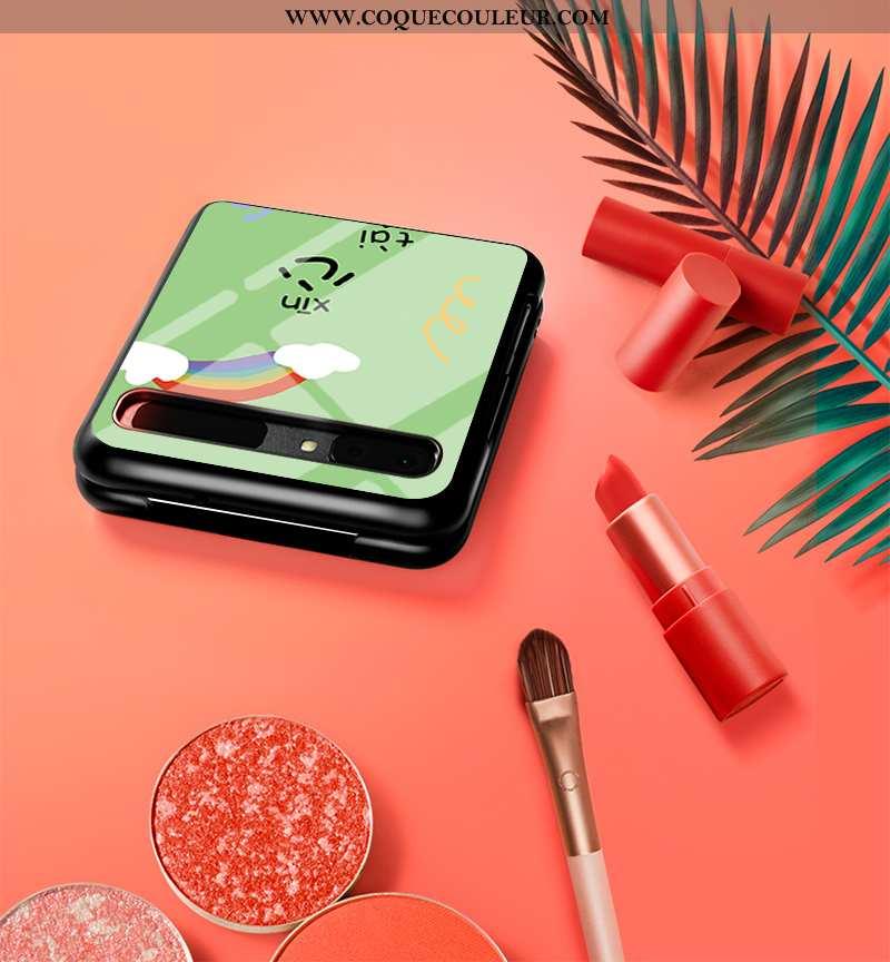 Étui Samsung Z Flip Personnalité Étoile Amoureux, Coque Samsung Z Flip Créatif Mode Verte