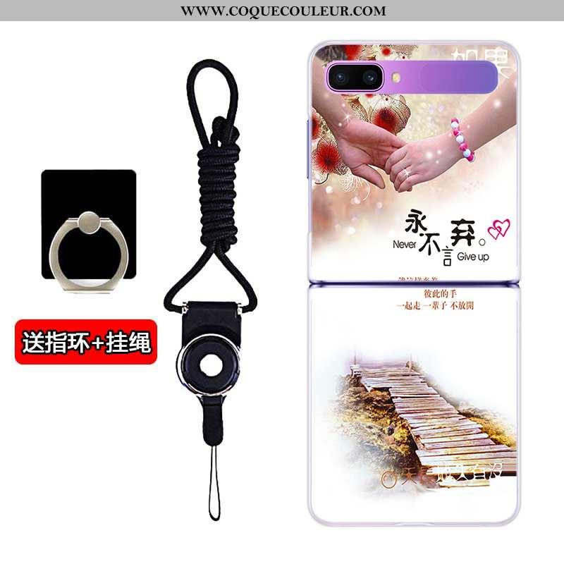 Coque Samsung Z Flip Personnalité Personnalisé Incassable, Housse Samsung Z Flip Transparent Blanc B