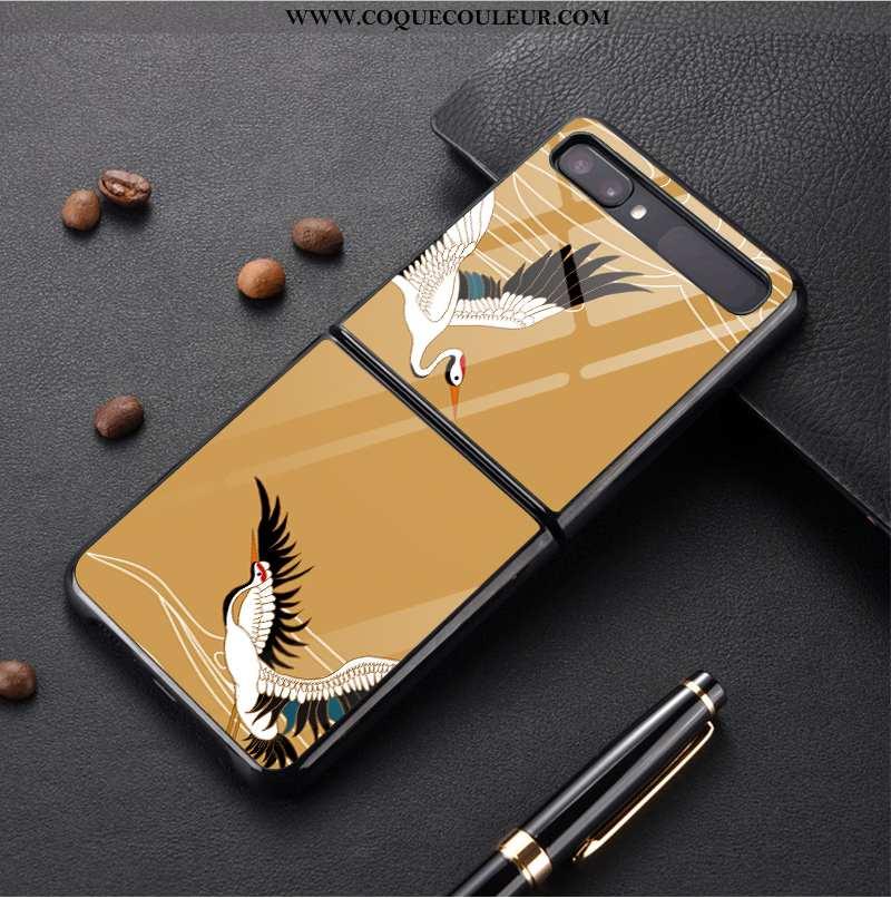 Étui Samsung Z Flip Personnalité Personnalisé, Coque Samsung Z Flip Protection Étoile Jaune