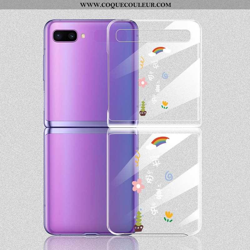 Coque Samsung Z Flip Protection Plier Téléphone Portable, Housse Samsung Z Flip Légère Légères Blanc