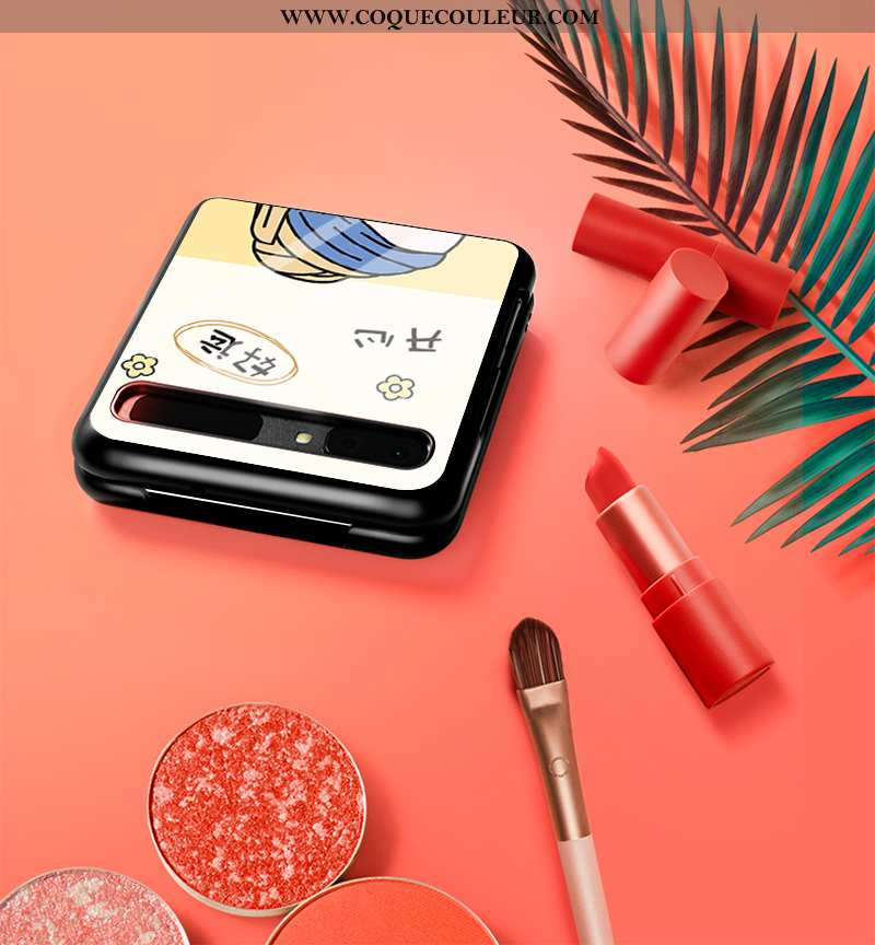 Coque Samsung Z Flip Fluide Doux Incassable, Housse Samsung Z Flip Mode Étui Blanche