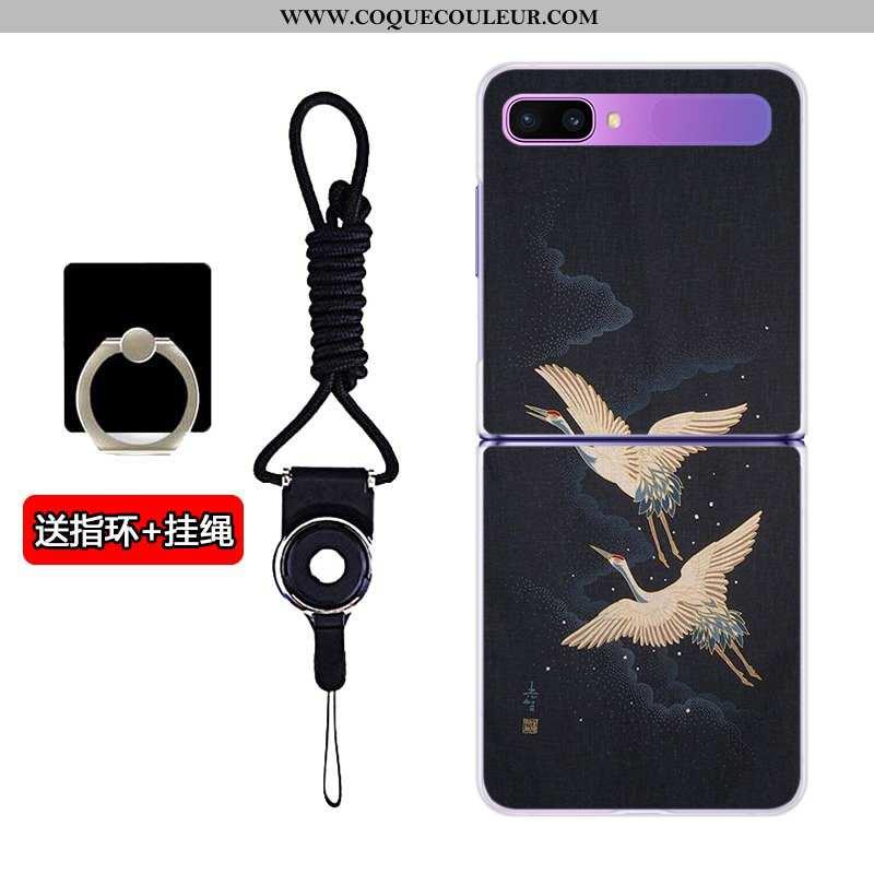 Étui Samsung Z Flip Dessin Animé Personnalisé Téléphone Portable, Coque Samsung Z Flip Transparent É