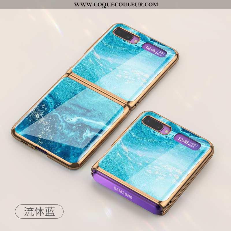Housse Samsung Z Flip Protection Tout Compris Bleu, Étui Samsung Z Flip Incassable Téléphone Portabl