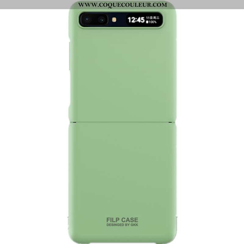 Coque Samsung Z Flip Ultra Difficile Vert, Housse Samsung Z Flip Tendance Étui Verte