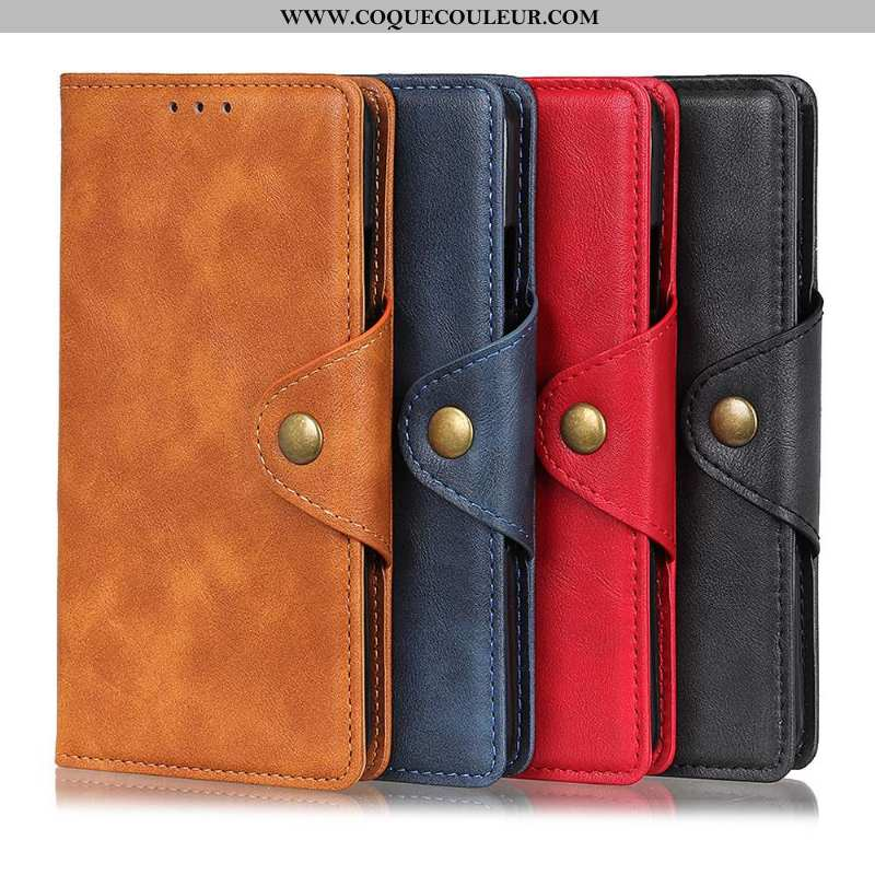 Housse Sony Xperia 1 Ii Cuir Étui Téléphone Portable, Sony Xperia 1 Ii Modèle Fleurie Une Agrafe Mar