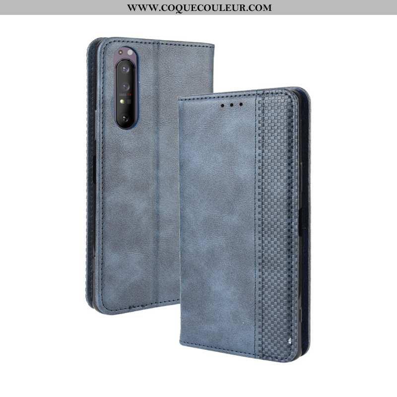 Housse Sony Xperia 1 Ii Protection Téléphone Portable Bleu Marin, Étui Sony Xperia 1 Ii Cuir Coque B