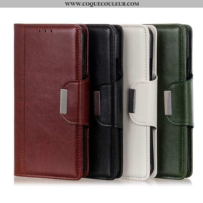 Housse Sony Xperia 1 Ii Protection Téléphone Portable Étui, Étui Sony Xperia 1 Ii Cuir Coque Rouge