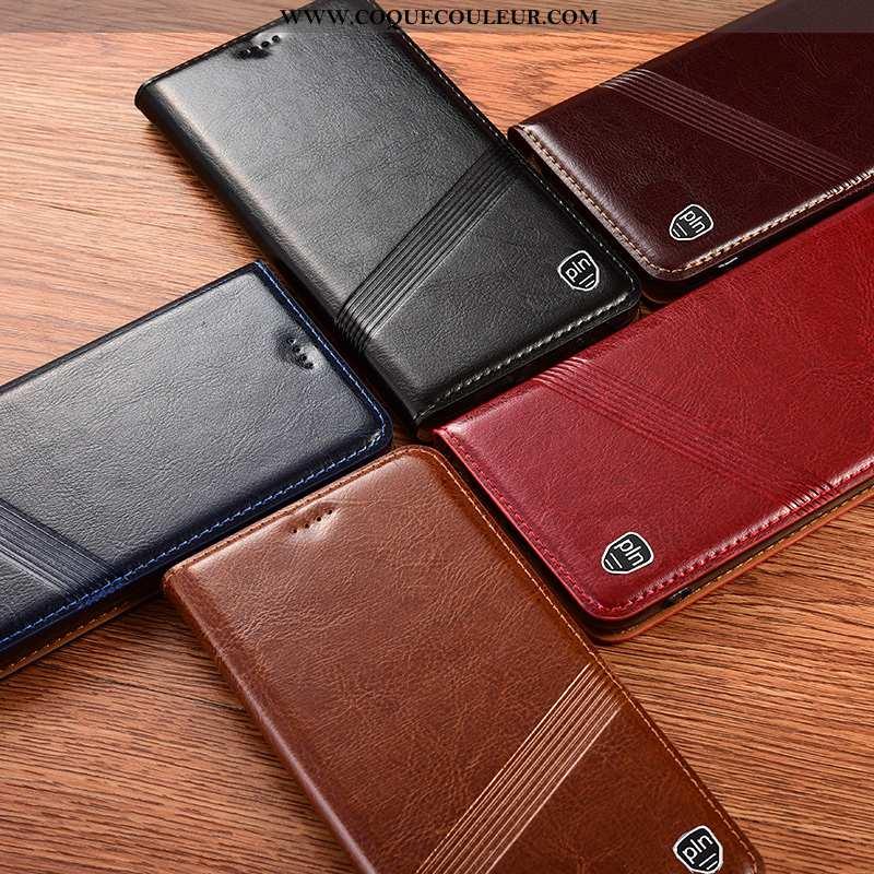 Housse Sony Xperia 1 Ii Cuir Véritable Coque Étui, Étui Sony Xperia 1 Ii Protection Noir