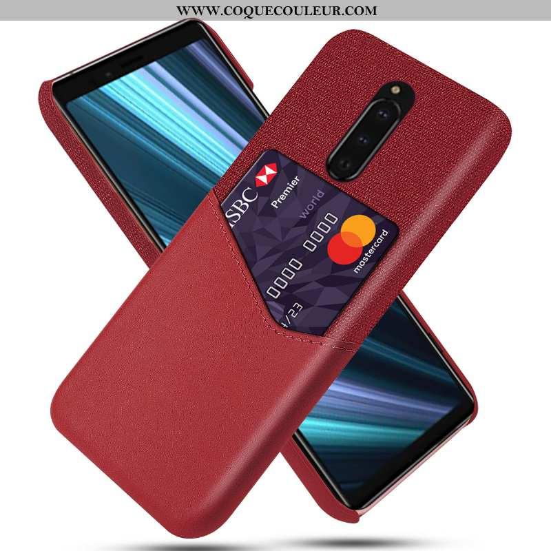 Coque Sony Xperia 1 Protection Téléphone Portable Coque, Housse Sony Xperia 1 Étui Rouge