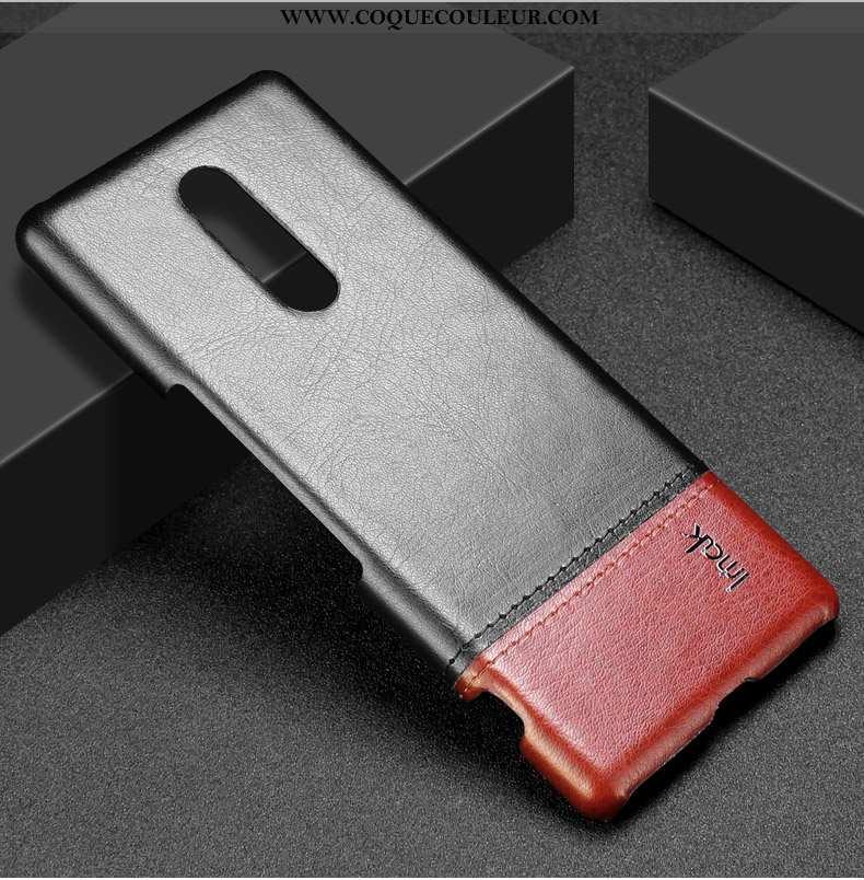 Étui Sony Xperia 1 Protection Difficile Téléphone Portable, Coque Sony Xperia 1 Cuir Incassable Noir