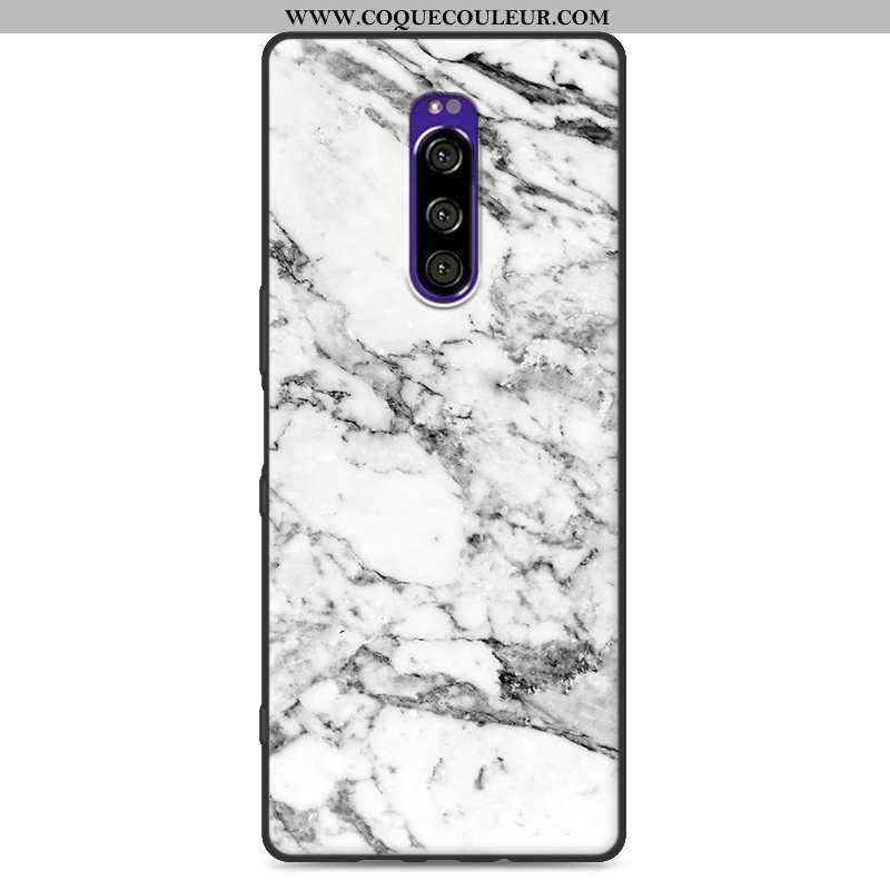 Étui Sony Xperia 1 Silicone Simple Grand, Coque Sony Xperia 1 Protection Blanche