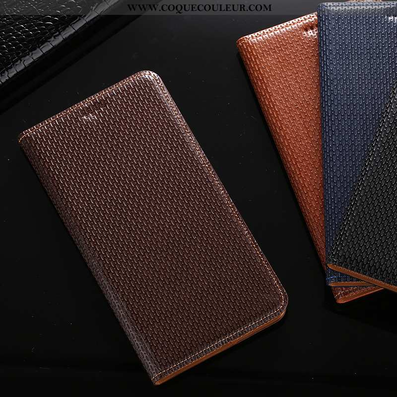 Coque Sony Xperia 1 Cuir Véritable Étui Téléphone Portable, Housse Sony Xperia 1 Protection Marron