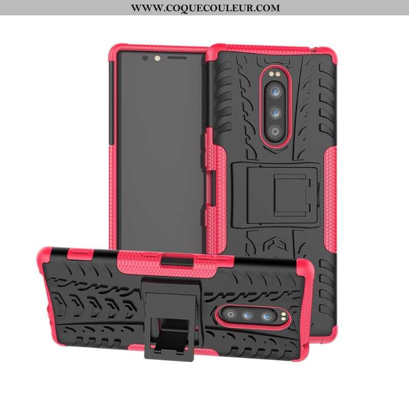 Housse Sony Xperia 1 Tendance Coque Silicone, Étui Sony Xperia 1 Légère Personnalité Rouge
