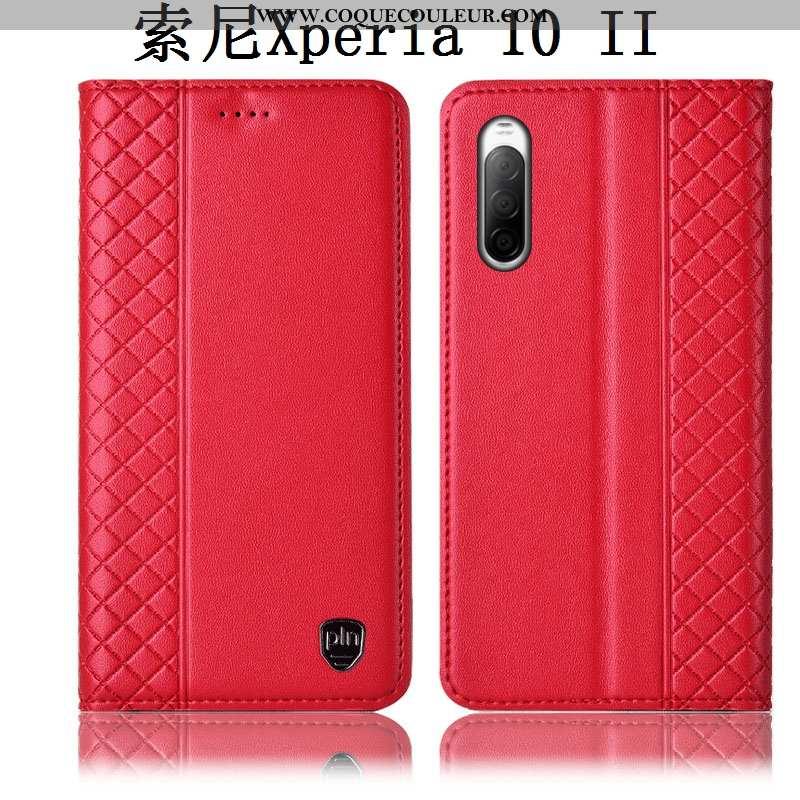 Housse Sony Xperia 10 Ii Cuir Véritable Incassable Étui, Étui Sony Xperia 10 Ii Protection Téléphone