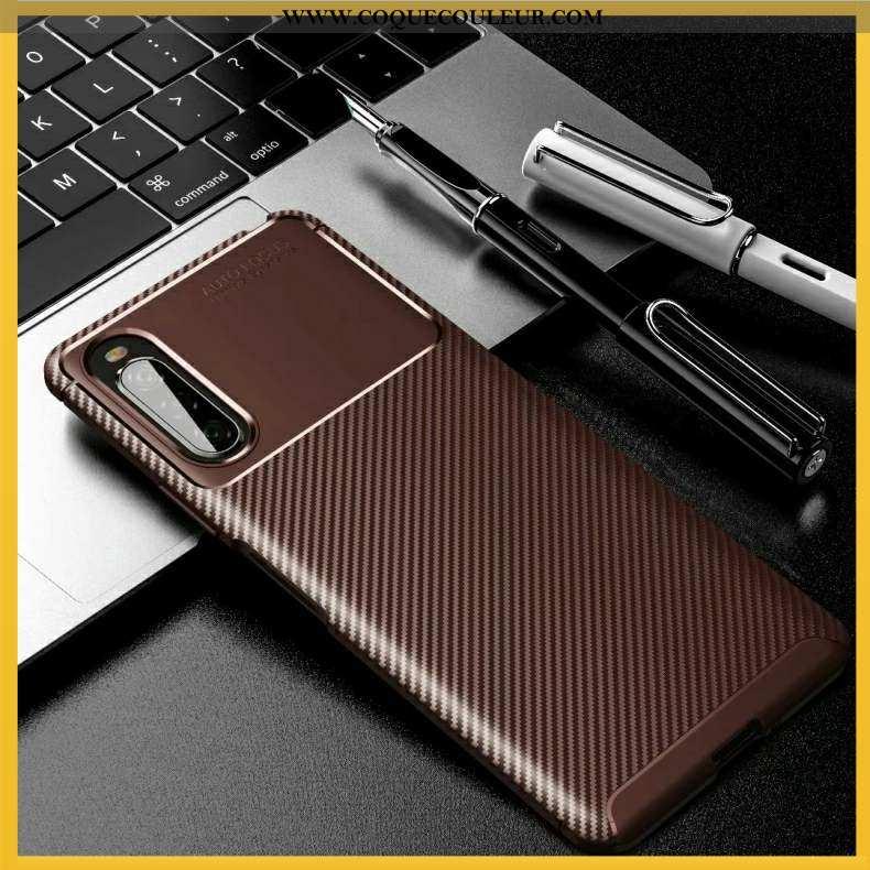 Étui Sony Xperia 10 Ii Silicone Téléphone Portable Coque, Coque Sony Xperia 10 Ii Marron