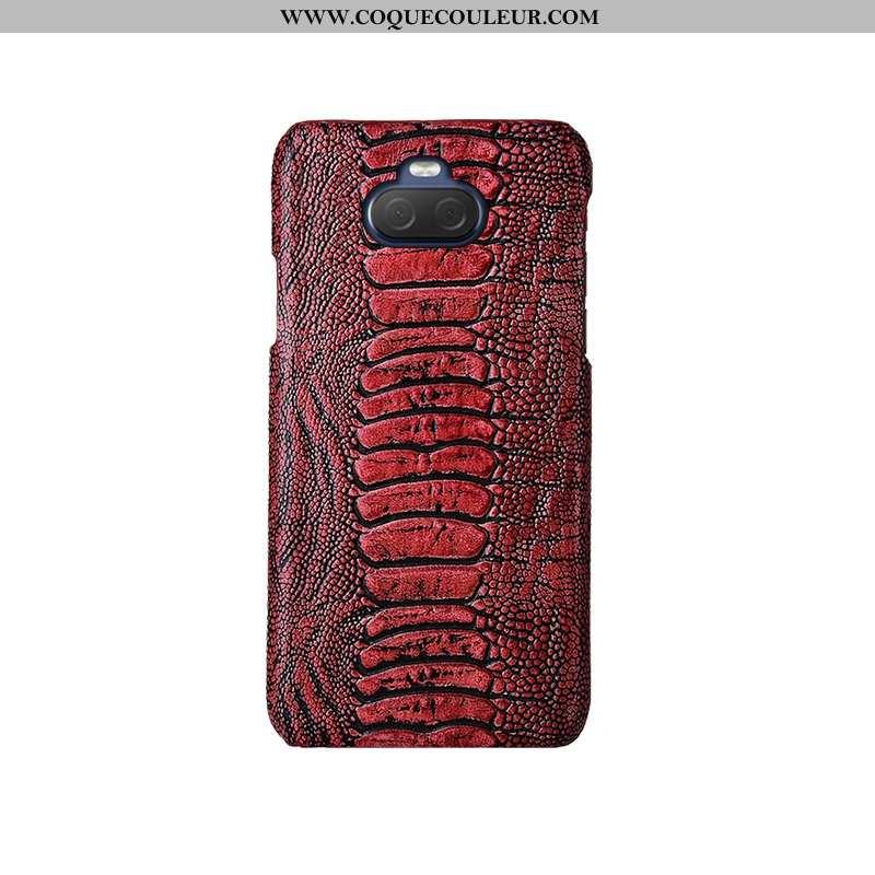 Étui Sony Xperia 10 Plus Mode Oiseau Cuir Véritable, Coque Sony Xperia 10 Plus Protection Téléphone