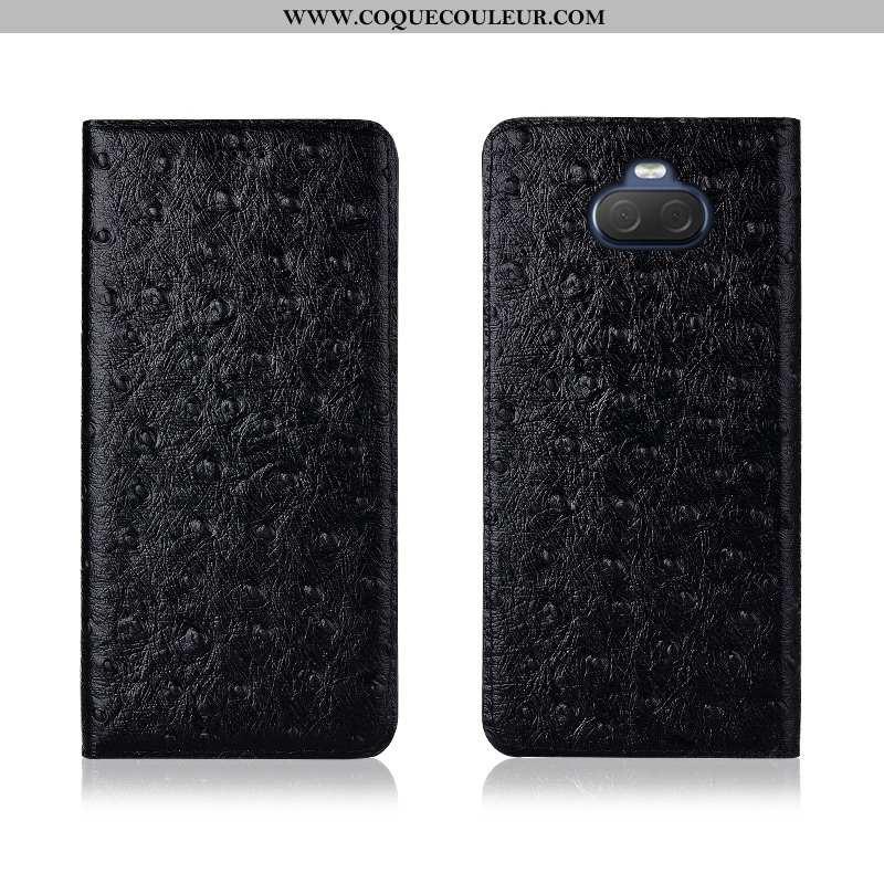Coque Sony Xperia 10 Plus Protection Clamshell, Housse Sony Xperia 10 Plus Délavé En Daim Nouveau No