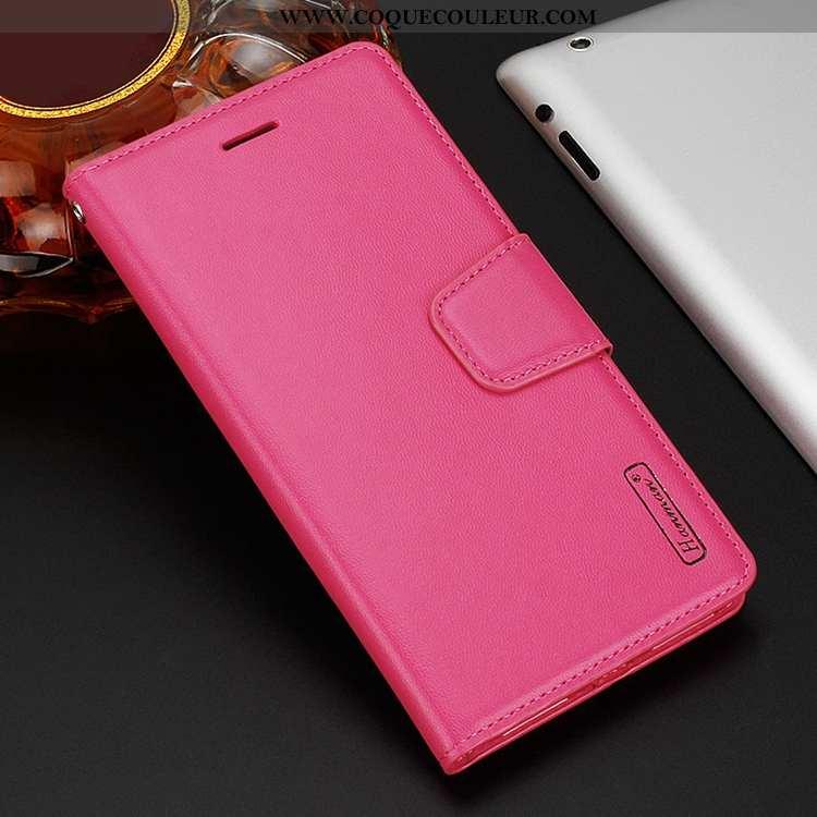 Housse Sony Xperia 10 Plus Cuir Rouge Coque, Étui Sony Xperia 10 Plus Téléphone Portable Rose