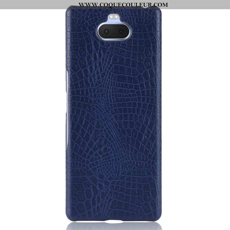 Housse Sony Xperia 10 Protection Téléphone Portable Bleu Marin, Étui Sony Xperia 10 Cuir Difficile B