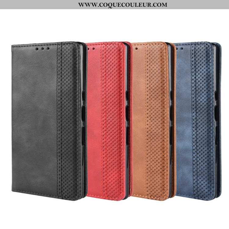 Housse Sony Xperia 10 Portefeuille Téléphone Portable, Étui Sony Xperia 10 Cuir Coque Noir