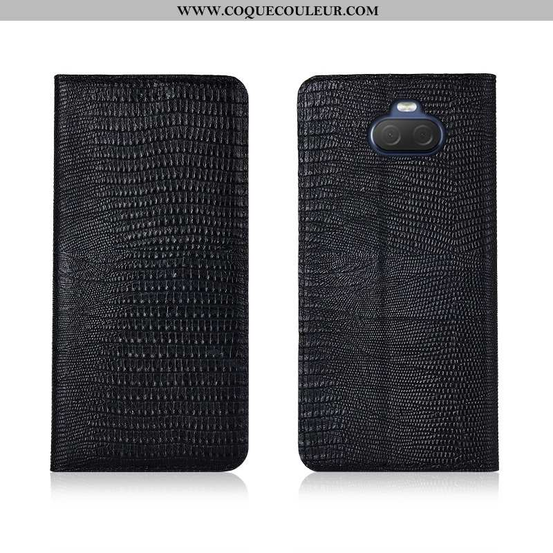 Étui Sony Xperia 10 Fluide Doux Clamshell, Coque Sony Xperia 10 Silicone Nouveau Noir
