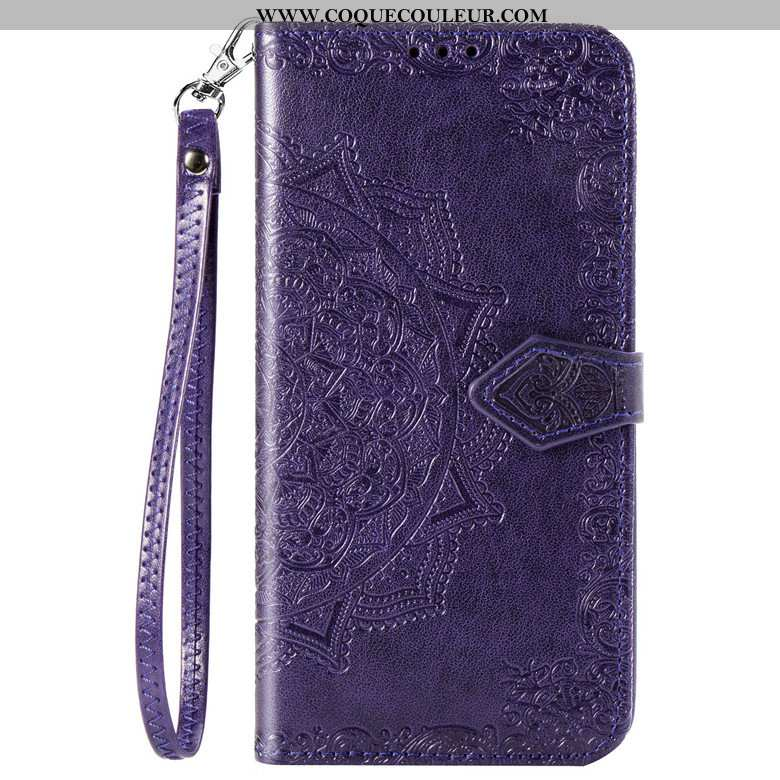 Étui Sony Xperia 10 Cuir Téléphone Portable Incassable, Coque Sony Xperia 10 Protection Violet