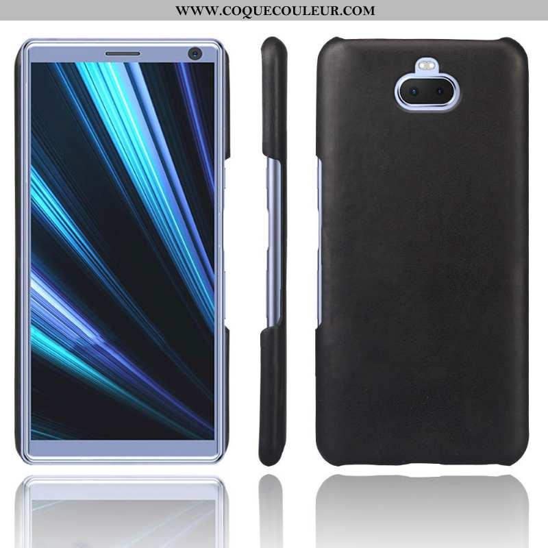 Housse Sony Xperia 10 Protection Noir Téléphone Portable, Étui Sony Xperia 10 Cuir Qualité