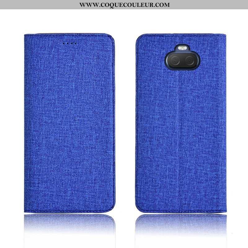 Housse Sony Xperia 10 Cuir Silicone Protection, Étui Sony Xperia 10 Fluide Doux Incassable Bleu