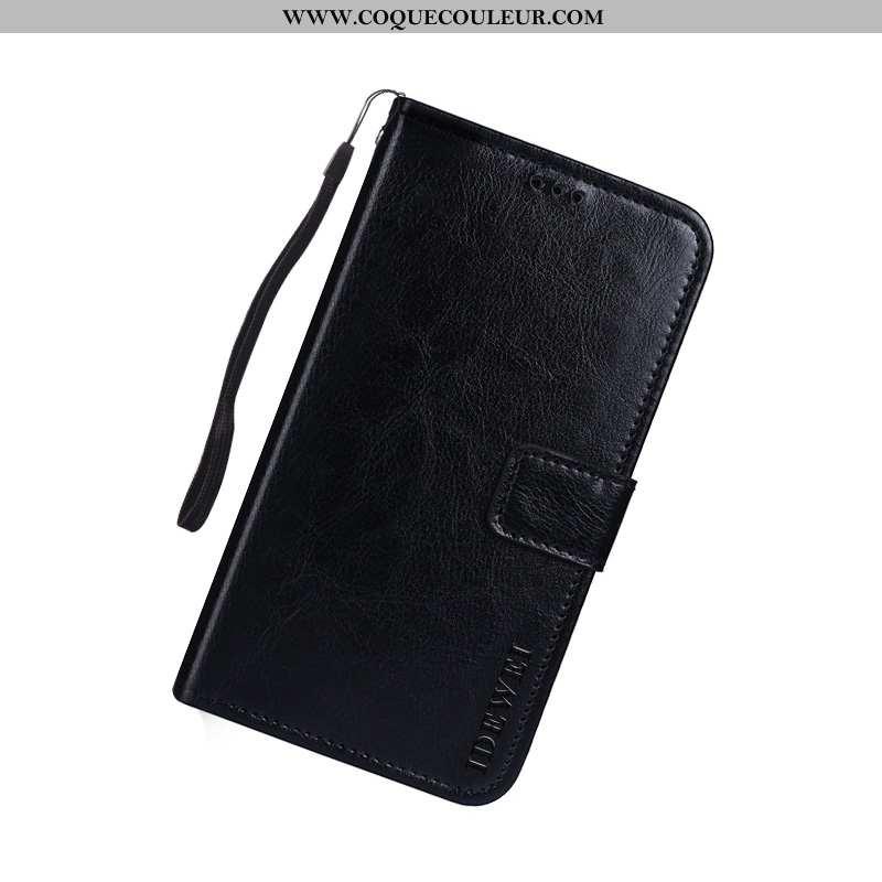 Coque Sony Xperia 10 Cuir Téléphone Portable Noir, Housse Sony Xperia 10 Protection Noir