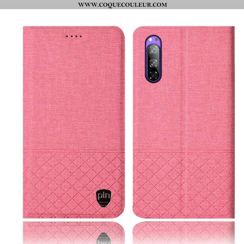 Étui Sony Xperia 5 Cuir Incassable Coque, Coque Sony Xperia 5 Protection Téléphone Portable Rose