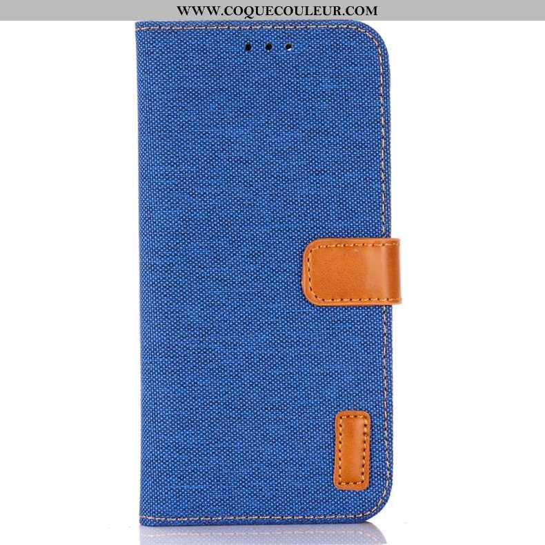 Étui Sony Xperia 5 Cuir Téléphone Portable Clamshell, Coque Sony Xperia 5 Protection Bleu