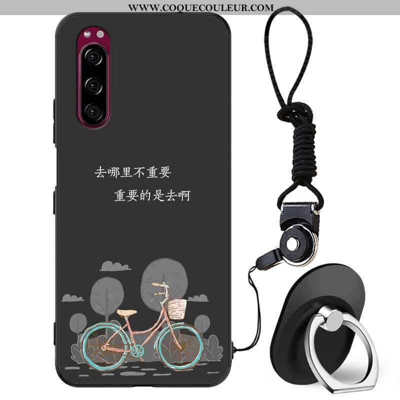 Coque Sony Xperia 5 Protection Noir Étui, Housse Sony Xperia 5 Personnalité Simple