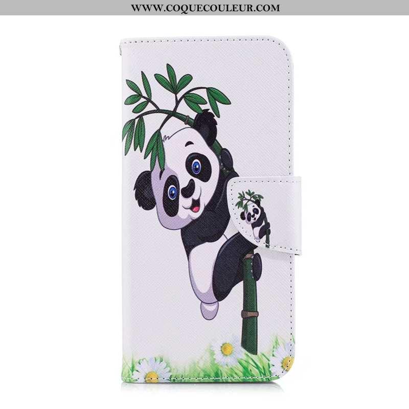 Housse Sony Xperia 5 Protection Téléphone Portable Coque, Étui Sony Xperia 5 Cuir Blanche