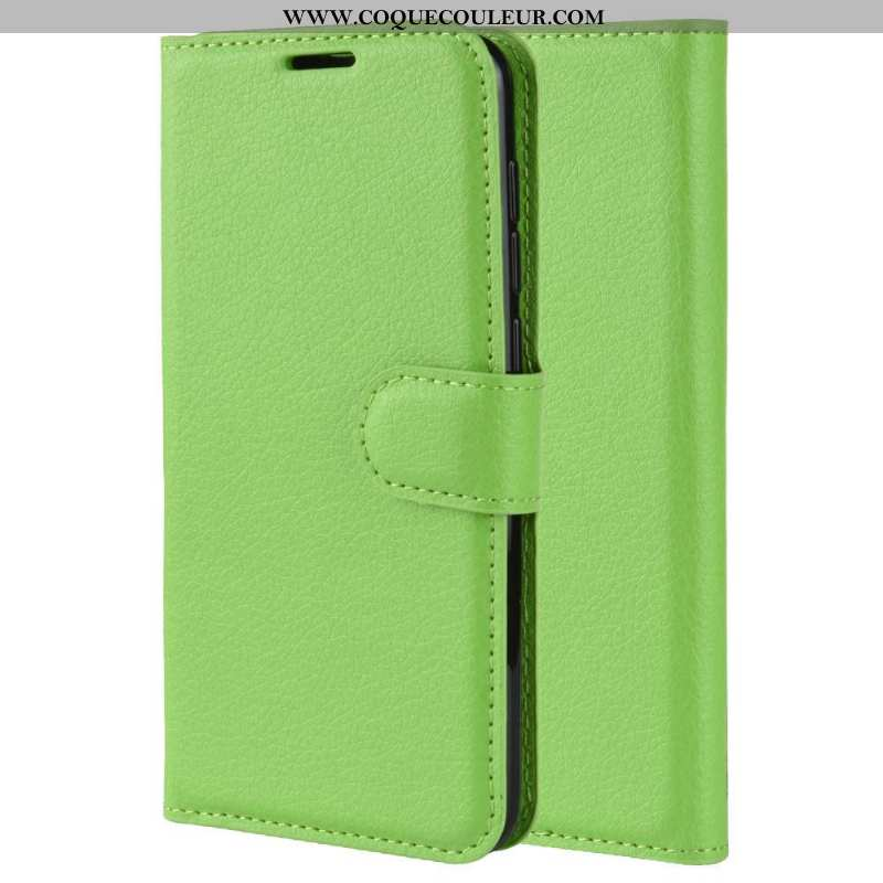 Étui Sony Xperia 5 Cuir Carte Simple, Coque Sony Xperia 5 Protection Téléphone Portable Verte