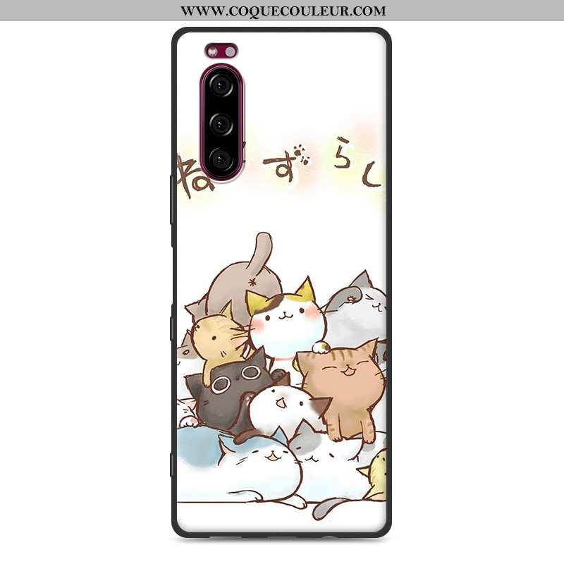 Coque Sony Xperia 5 Protection Téléphone Portable Fluide Doux, Housse Sony Xperia 5 Délavé En Daim N