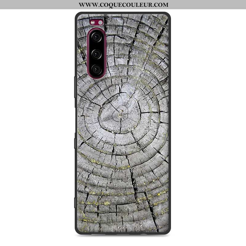Étui Sony Xperia 5 Silicone Grand Téléphone Portable, Coque Sony Xperia 5 Protection Gris