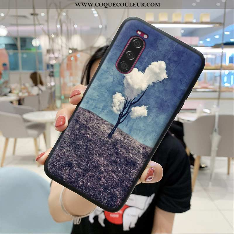 Étui Sony Xperia 5 Ultra Téléphone Portable Étui, Coque Sony Xperia 5 Légère Bleu Foncé