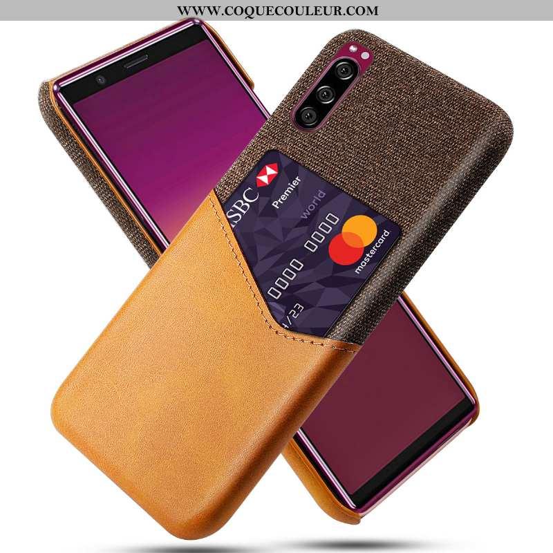Coque Sony Xperia 5 Protection Téléphone Portable Jaune, Housse Sony Xperia 5 Étui Jaune