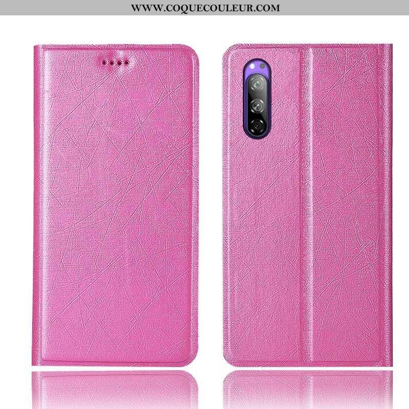 Housse Sony Xperia 5 Protection Coque Téléphone Portable, Étui Sony Xperia 5 Soie Rose