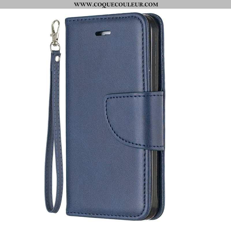 Coque Sony Xperia L1 Cuir Housse Coque, Sony Xperia L1 Protection Bleu Marin Bleu Foncé