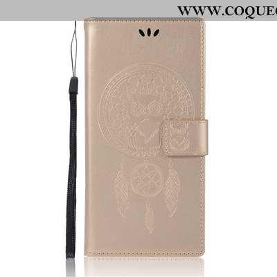 Housse Sony Xperia L1 Portefeuille Étui Téléphone Portable, Sony Xperia L1 Protection Or Doré