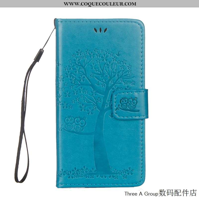 Coque Sony Xperia L1 Cuir Étui Housse, Housse Sony Xperia L1 Protection Bleu
