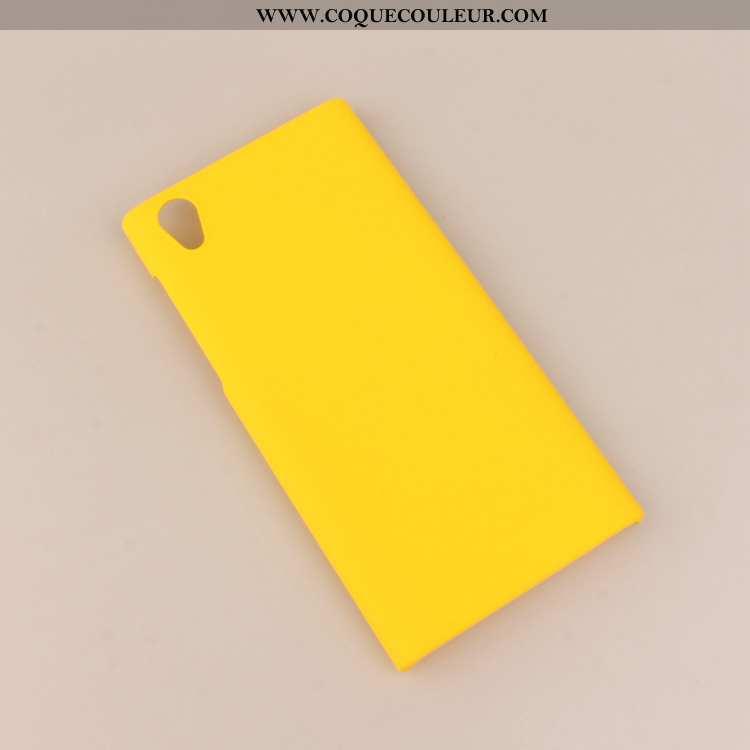 Housse Sony Xperia L1 Protection Coque Simple, Étui Sony Xperia L1 Délavé En Daim Jaune